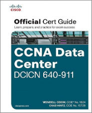 Image of the book CCNA Data Center DCICT 640-911, this is included with the training course at Logitrain