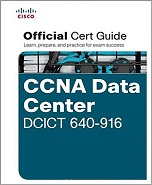 Image of the book CCNA Data Center DCICT 640-916, this is included with the training course at Logitrain